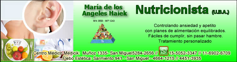 Nutricionista Angeles Haiek